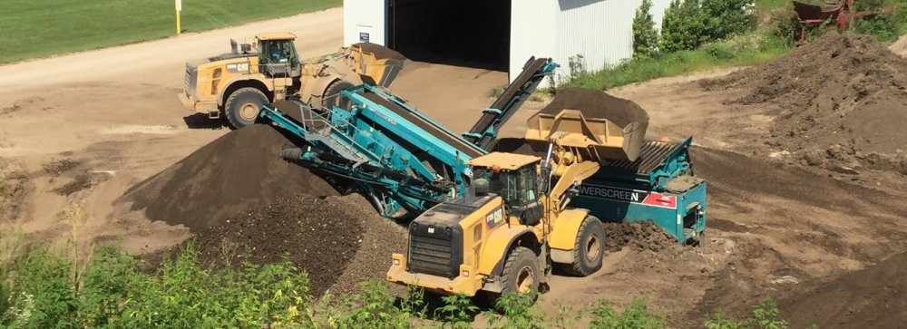 Topsoil Shredding Process